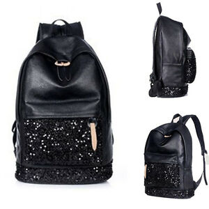 damen m dchen reise modisch handtasche pailletten rucksack. Black Bedroom Furniture Sets. Home Design Ideas