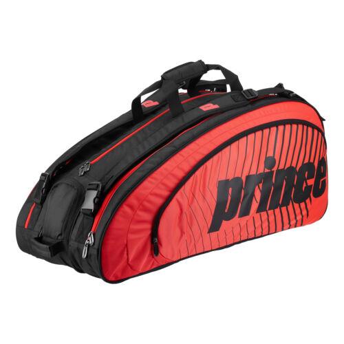 Prince Challenger 12 Racket Bag Black//Red Schlägertasche Schwarz Rot Neu