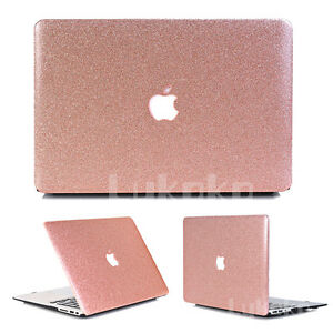 hot sales 6d1c2 0c6af Rose Gold Bling Glitter Shiny Leather Case for MacBook Air Pro 13 ...