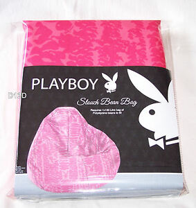 Superb Details About Playboy Bunny Pink Printed Slouch Bean Bag Cover New Forskolin Free Trial Chair Design Images Forskolin Free Trialorg