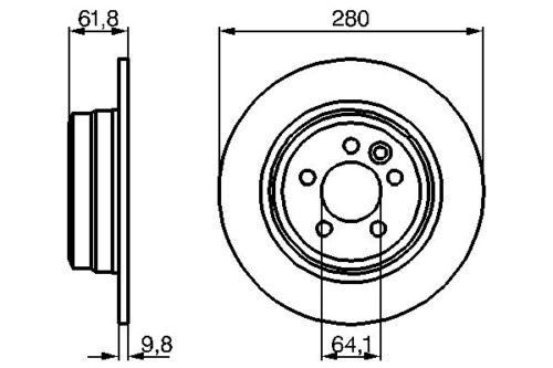 Vetech Solid Brake Disc Rear Mg Mg Zt T 2001-2005 2.0 Cdti 180 1.8 T 16V 190 160