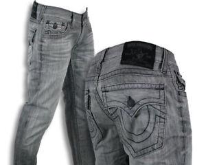 a6bb63cb1c7 True Religion Jeans Men s Ricky straight Silverwood gray black ...