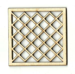 Diamond Design Plaque - Unfinished Laser Cut Out Wood Shape Craft Supply DSN17