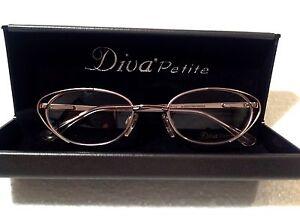 429b33f2aeeb Image is loading Cat-Eye-Designer-Diva-Petite-Eyeglasses-Glasses-Frames