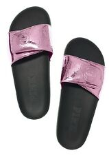 NWT Victoria's Secret Pink BERRY GELATO Slides Slippers Shoes SIZE L LARGE 9 10
