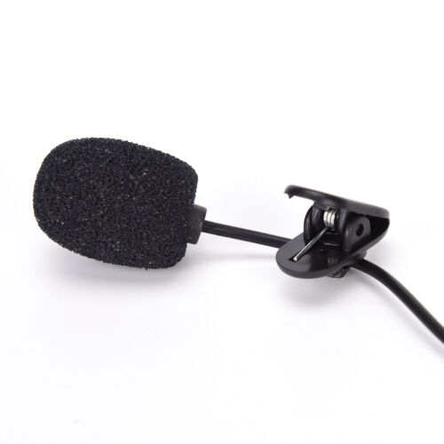 3.5mm hands-free mic microphone clip on lavalier lapel for pc laptop black  Yg
