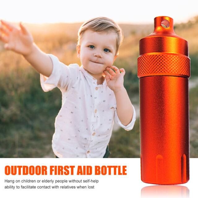 Waterproof CNC Bottle Aluminum EDC Survival Capsule Sea Case Box Container  KL