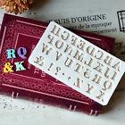 3D Alphabet Letter Silicone Fondant Mold Cake Chocolate Sugarcraft Cutter Moulds