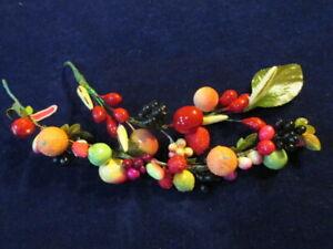 Vtg-Millinery-Flower-Fruit-Collection-Miniature-3-8-1-034-On-Garlands-Japan-H3390