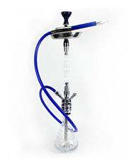 40'' Babylonian Blue Hookah Modern w/ Carrying Case LED Light Freezable Hose