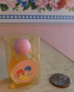 VTG-NIB-1989-Sanrio-Lily-LITTLE-TWIN-STARS-Perfume-0-11-Oz-3-6ml-Mini-Kiki-Lala