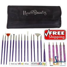 Nail Design Salon Art Supplies Brushes Polish Tools 20 pcs Valentines Gifts Her