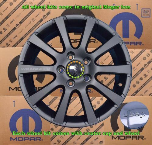 NEW OEM Mopar Jeep Wrangler Wheel Kit W// Center Cap 18x7.5 127mm 44.45 82214253