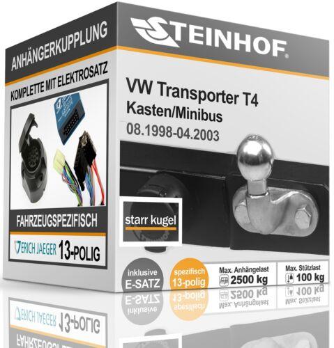 Anhängerkupplung starr Für VW TRANSPORTER T4 1998-2003+E-SATZ 13polig SPEZIFISCH
