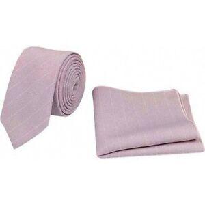 f81efb87fa3d8 New Vintage Wedding Dusky Pink Stripe Skinny Tie & Pocket Square Set ...