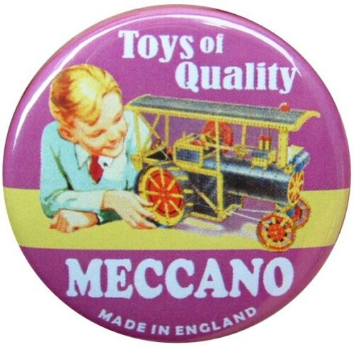 RETRO COLLECTOR MECCANO HORNBY 38mm BUTTON BADGE