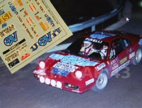 "ZANINI RALLY OSONA 1984 DECAL CALCA 1//43 FERRARI 308 /""ESPAÑOLA DE VIDEO/"" A"