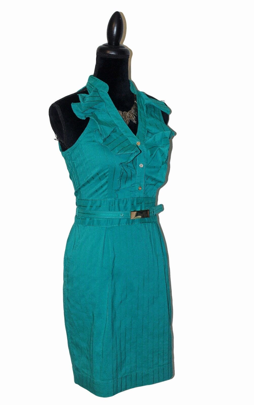 7add7df2a8e ... NWOT Express Express Express Design Studio Ruffle Belted Dress - Sz 6 -  e985dd