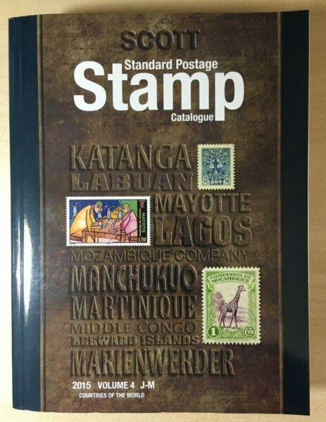 2015 Scott Stamp Catalogue V-4 J-m Volume 4 Utilisé Design Professionnel