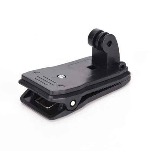 360° Black Rotary Quick Release Backpack Hat Clips Clamp Mount For Go pro 2RMJ