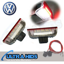 UNDER DOOR RED WHITE PUDDLE LIGHTS VW GOLF MK5 MK6 JETTA PASSAT CC TOURAN SKODA
