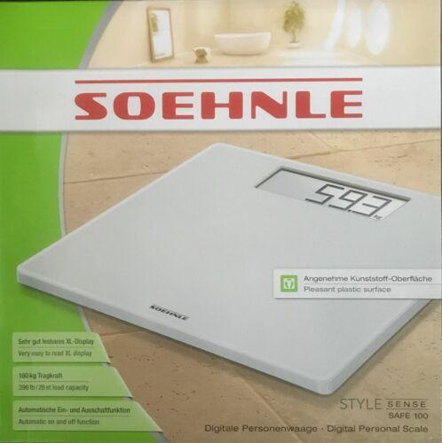 Badwaage, Personenwaage bis 180 Kg Soehnle Style Sense Safe 100 Digital
