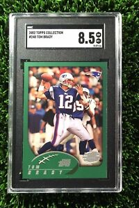 2002-Topps-Collection-Foil-248-Tom-Brady-SGC-8-5-PSA-Rare-First-Topps-Card