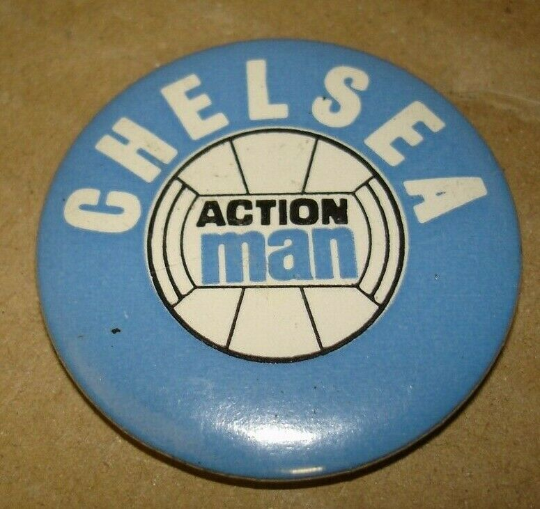 Genuine Original 1970's 1970's 1970's action Man Chelsea football Badge stamped  Hong Kong af1ee1