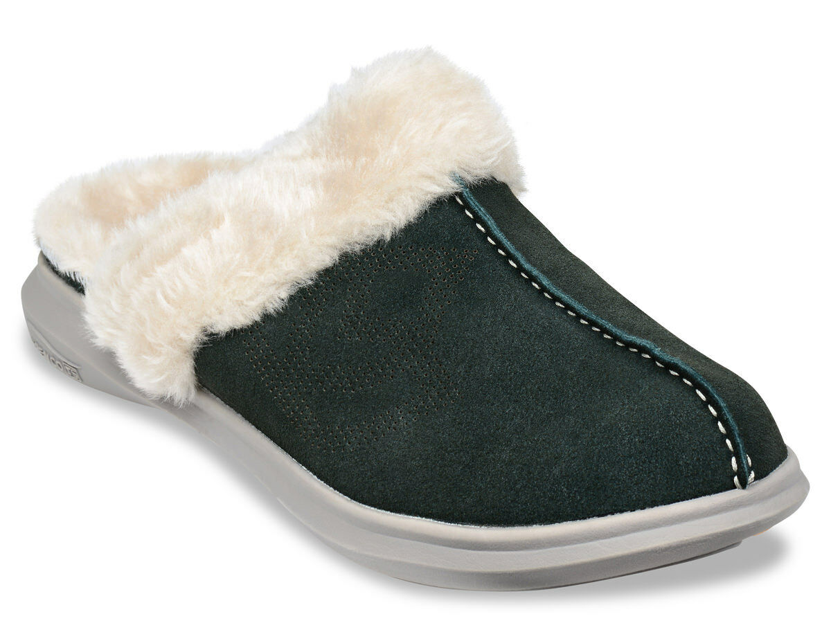 Wouomo Spenco Total Support Ortcalienteic Supreme Slide Slippers Deep Forest Sz 6