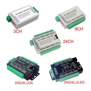 DMX512 24CH/9CH/3CH Decoder Controller Easy DMX Drive for