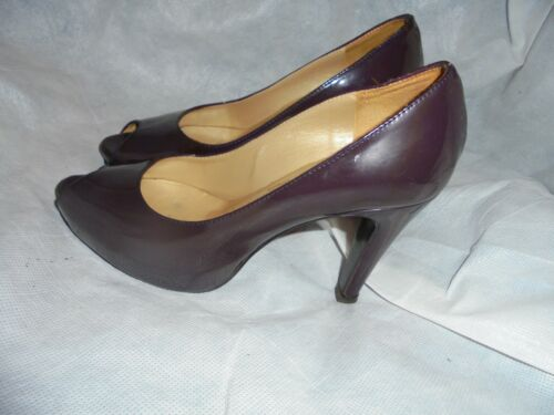 Eu 35 Womens amp; Size 3 Uk 5 Maroon Bromley Slip Leather Russell Peep On Toe Shoe qOw16wE
