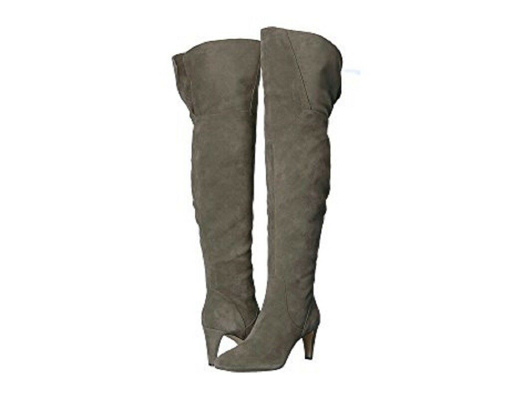 VINCE Over CAMUTO Armaceli Over VINCE the Knee Suede Leder Dark Grau Stiefel SZ 6.5 NEW 2b729c