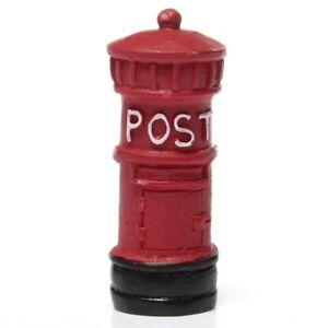 1X-Miniature-Retro-Postbox-Craft-Dollhouse-Decor-Garden-Fairy-Ornament-Flow-4H3