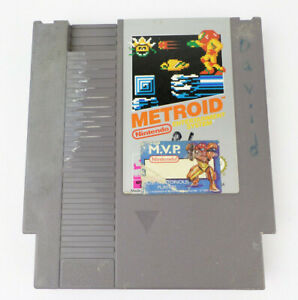 NES Metroid Authentic Silver Label Nintendo Game Cart Tested Working (LOT B)