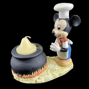 Vintage Porcelain Chef Mickey Mouse Candle Holder Disney Gift-Ware Royal Orleans