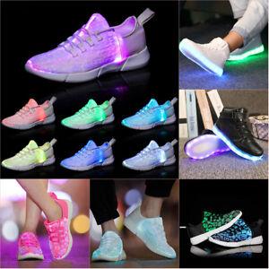 Details About Men Women Led Light Up Shoes Luminous Usb Trainer Sneaker High Top Sports Shoes