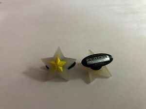 Yellow-and-White-Star-Shoe-Doodle-For-Rubber-Shoes-or-Crocs-Shoe-Charm-PSC401Y