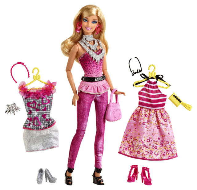 ARTICULATED BARBIE FASHIONISTAS DOLL FASHION FABULOUS W/CLOTHING/ACCESSORIES NIB