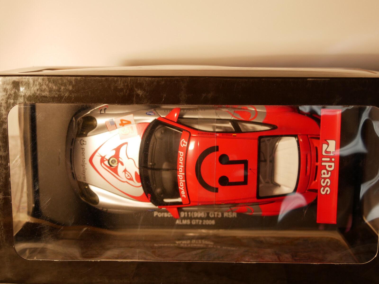 AUTO ART PORSCHE 911 (996) GT3 RSR ALMS GT2 2006  ART.80673 1 18  NEW