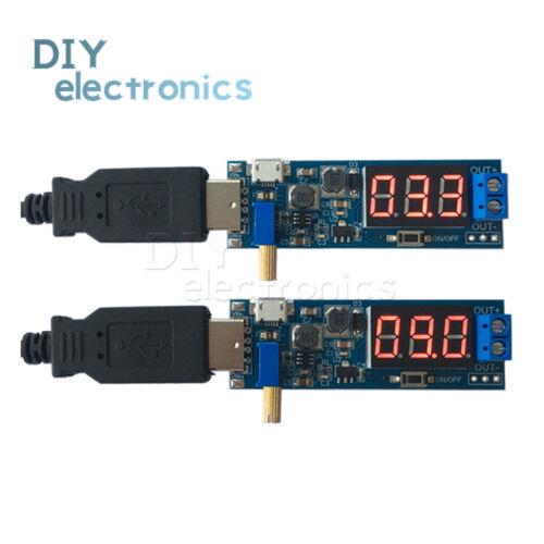 DC-DC 5V to 3.3V 9V 12V 24V USB Step UP//Down Adjustable Power Supply Module US