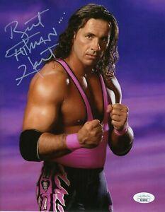 Bret Hitman Hart Autograph Signed 8x10 Photo Wcw Wwf Wwe Jsa Coa Ebay
