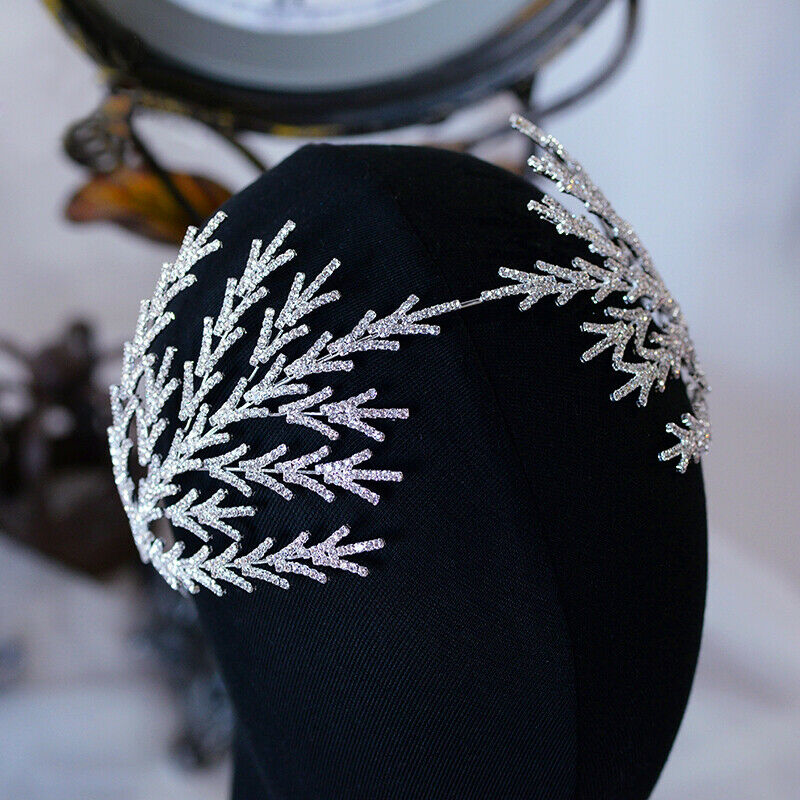Vintage Princess Wedding Tiaras Crowns Zircon Bridal Crystal Headdress