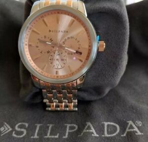 Silpada-Watch-Stainless-Steel-T3369-034-Blush-At-First-034-New-in-Box-with-Pouch