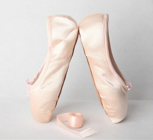 Women Cross Strappy Satin Professional Ballet Dance Flats Comfy Soft Vogue Shoes