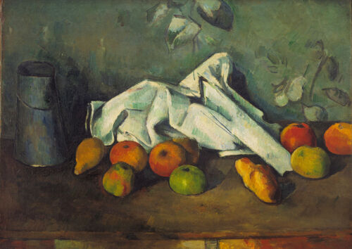 Paul Cezanne Milk Can and Apples 4219 Art Print