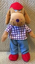 "Berlitz Kids Plush Dog Nicholas Red Cap Blue Jeans 9"""