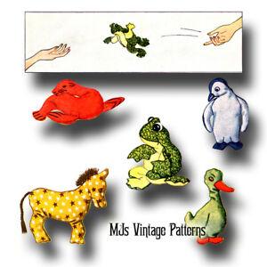 Brilliant Details About Vintage Bean Bag Toy Animals Pattern Inzonedesignstudio Interior Chair Design Inzonedesignstudiocom