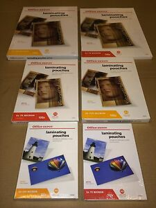 A5 A4 A3 GLOSSY LAMINATING POUCHES 2 X 75 / 150 MICRON AND 2 X 125 / 250 MICRON