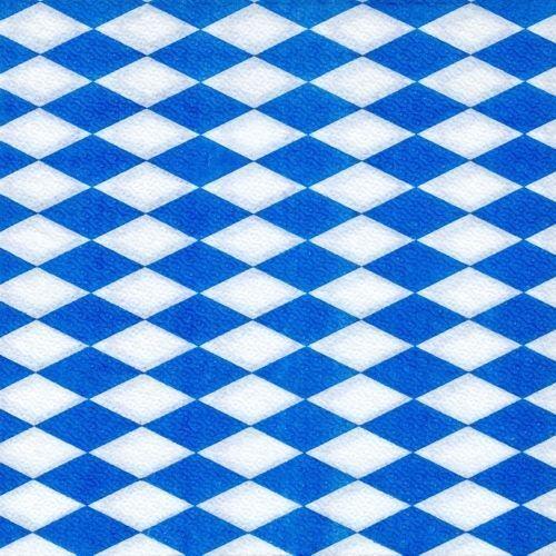 100 Servietten 1-lagig 1//4-Falz 33 cm x 33 cm Bayrisch Blau Oktoberfest Raute