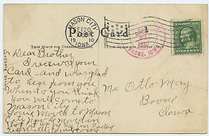 FLAG-CANCEL-1910-Mason-City-amp-Boone-IOWA-Woman-in-Lily
